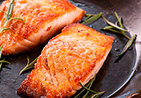grilled salmon with orange marinade chili and sea salt